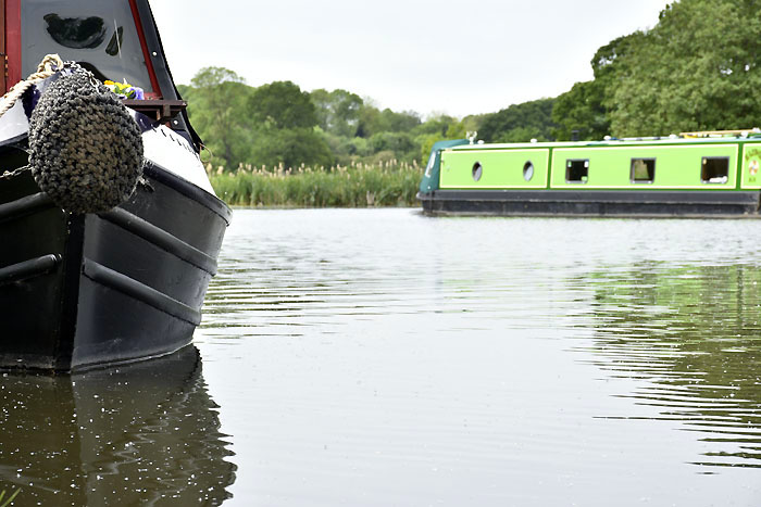 Narrowboats on Tixall Wide - Staffs & Worcs Canal